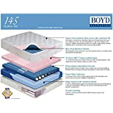 Boyd 145 Shallow Fill Water Bed with Foam TubeS-Bamboo Cover! *Pick Size* (Queen)