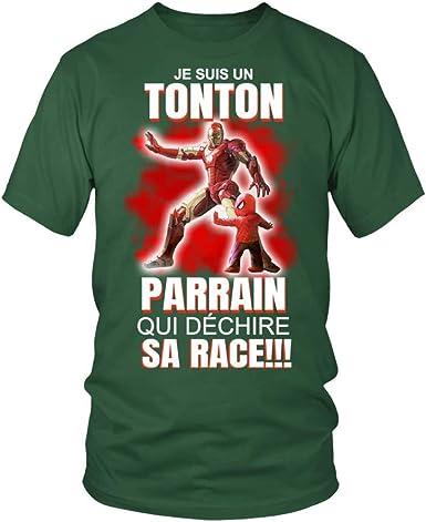 Teezily T Shirt Homme Je Suis Un Tonton Parrain Qui Déchire Sa Race Vert Bouteille 4xl Amazon Fr Vêtements Et Accessoires