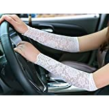 4 Pairs Lace Vintage Fingerless Arm elbow retro Gloves