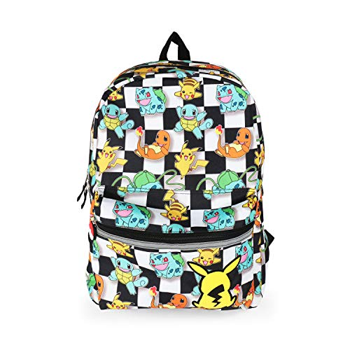 Pokemon All Over Print Checkered Characters Backpack School Bag for Kids -
