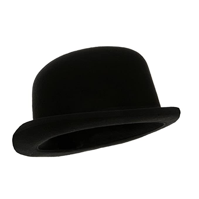 Black Blended Wool Derby Hat at Amazon Men s Clothing store  Bowler Hat 2f6e618cb15