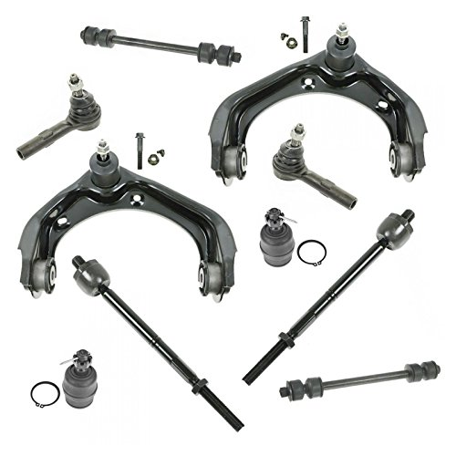 (10 Piece Steering & Suspension Kit Control Arms Ball Joints Tie Rods End Links)