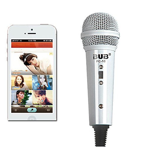 Handheld Microphone, Megadream® Portable Home Studio Condenser Wired Mic with Desktop Stand and 3.5mm Headphone Splitter Adapter for Telephone / Singing / Vocal / Skype / K Sing Voip / Karaoke-White (Microphone Condensed compare prices)