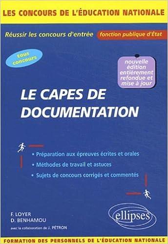 Livre gratuits Le CAPES de documentation : Concours externes, internes, réservés et autres concours pdf ebook