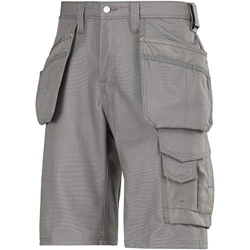 Snickers 30141818042Größe 42Handwerker Holster Pocket Shorts, Grau