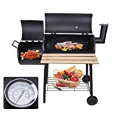 "48"" Portable Backyard Charcoal BBQ Grill Christmas Barbecue Cooker Offset Smoker"