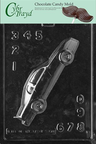 Car Chocolate Mold (Cybrtrayd S087 Sports Chocolate Candy Mold, Stock Car for Specialty Box)