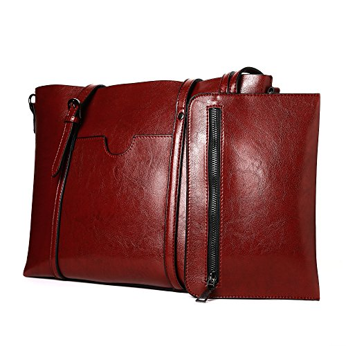 Women Bag Casual Vintage Shoulder Bag Handbags Cross Body Bag Large Capacity Brown Bags Tote Purse - Purse Vintage Leather