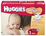 Health & Personal Care : Huggies Little Snugglers Diapers, Size 1, 168-Count