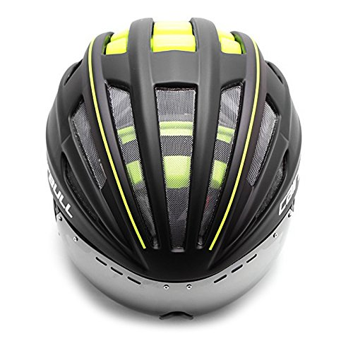 LightInTheBox Unisex Full-Face Bike helmet 28 Vents Cycling Road Cycling Medium: 54-60cm PC/EPS White/Green/Red/Blue (Green)