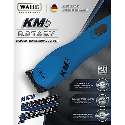 Wahl Professional Animal KM5 2 Speed Clipper Kit, Gumball Blue #9787-200 by Wahl (Image #1)