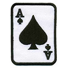 Ace of Spades black suit playing card poker retro casino biker rat pack applique iron-on patch new by TKPatch