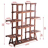 Flower Racks Flower stand Plant stand Plant flower pot rack Display shelf Shelf holds Wood plant stand Anti-Corrosion Wood Indoor Multi-Layer Balcony-D