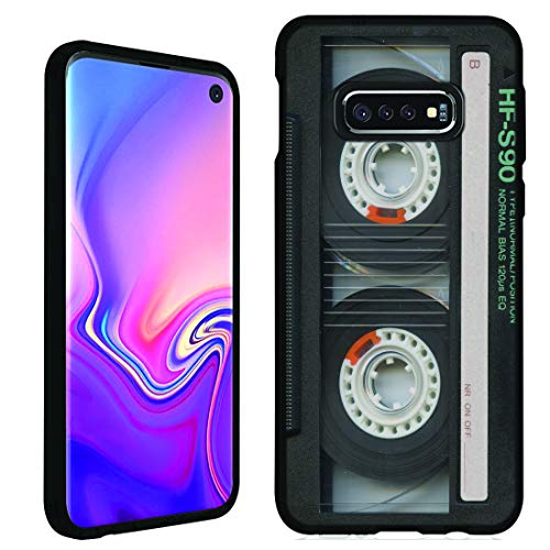 Cassette Case Cover - Galaxy S10e Case [Cassette Tape](Black) PaletteShield Flexible Slim TPU Skin Phone Cover (fit Samsung Galaxy S10e)