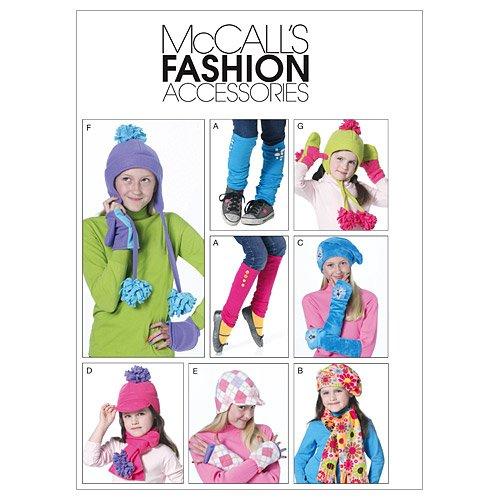 子供用女の子の帽子、スカーフ、手袋、ミトン - 1 つのエンベロープ パターンのすべてのサイズ   B004OA789I