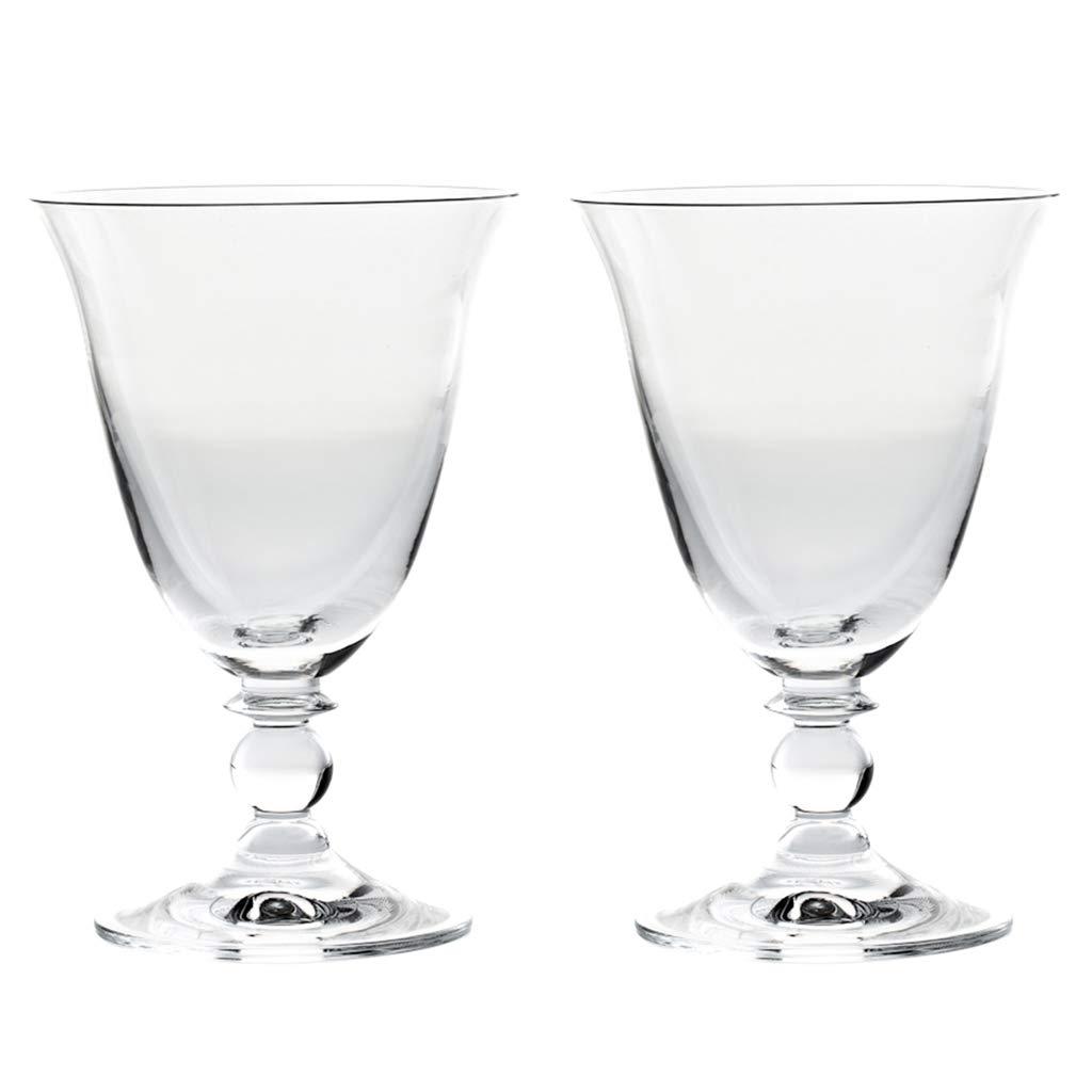 SET OF 2 - Elegant Short Stemmed Fluted Clear Champagne Flutes