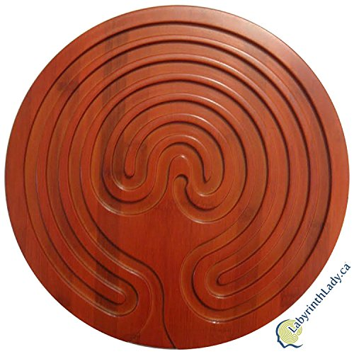 (Finger Labyrinth Wood Board, for Meditation & Mindfulness, for Stress & Anxiety Relief, Attention Management, for Kids to Seniors to Find Calm & Focus, 12-1/2