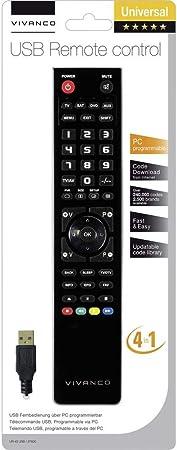 Vivanco 37600 Botones Negro - Mando a Distancia (DTC, DTT, DTV, DVD/BLU-Ray, DVDR-HDD, DVR, Sistema de Cine en casa, PC, Sat, STB, TV, Receptor de, Botones, Negro): Amazon.es: Electrónica