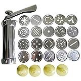 Gooday Aluminium Alloy Press Cookie Biscuits Machine 20 Designs Cookies Biscuit Mold Extruder