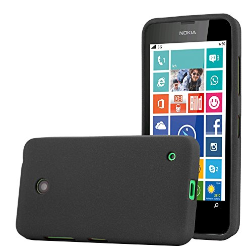 Cadorabo Case Works with Nokia Lumia 630 in Frost Black - Shockproof and Scratch Resistant TPU Silicone Cover - Ultra Slim Protective Gel Shell Bumper Back Skin (Nokia Lumia 630 Transparent Case)