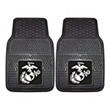 Fanmats Military 'Marines' Vinyl Heavy Duty Car Mat - 2 Piece
