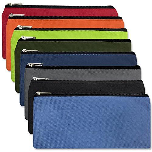 Pencil Pouch Case - Bulk Wholesale Case Pack of 96 Pieces (8 Color Assortment)