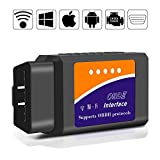 OBD2 Scanner, kungfuren Code Reader Car diagnostic Tool Compatible With IOS, Android & Windows...