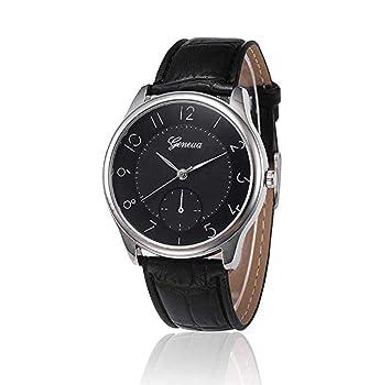 Relojes para hombre, ICHQ en venta, analógico, de negocios, casual, de moda, reloj de pulsera para hombre de cuero barato: Amazon.es: Hogar