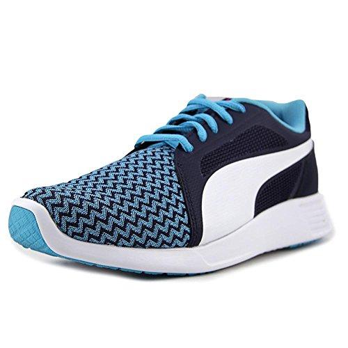 PUMA Unisex-Kids ST Trainer Evo Techtribe Sneaker, Blue Atoll-Puma White, 7 M US Big Kid