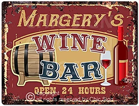 Amazon.com: Margery S - Placa decorativa de metal para bar ...