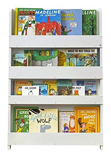 Tidy Books - Kids Bookshelf | White Bookshelf | Wooden Book Shelves for Kids - 45.3 x 30.3 x 2.8 in | ECO Friendly | Handmade - The Original Since 2004
