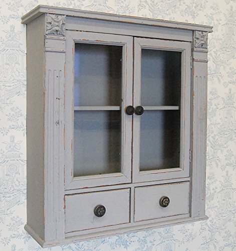 Bowley U0026 Jackson French Shabby Chic Grey Painted Wooden Wall Cabinet  Cupboard: Amazon.co.uk: Kitchen U0026 Home