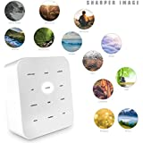 Sharper Image Best White Noise Sound Machine for Baby Room & Adults, 12 Soothing Nature Music Sleep Therapy Portable Device for Relaxation & Stress Relief with Timer for Travel, Office, Spa, and Home
