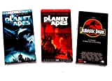 Sci-fi Video Collection (3pk): Planet of the Apes; Planet of the Apes, Remake; Jurassic Park
