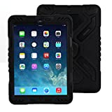 iPad 2 3 4 case, Meiya New Waterproof Shockproof Dirt Snow Sand Proof Survivor Extreme Army Military Heavy Duty Cover Case Kickstand for Apple iPad 2 3 4 Children Gift 2/3/4 Children kid full protection light weight iPad case (Black+Black)