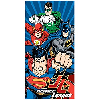 DC Comics Justice League Batman, Superman, Green Lantern, and The Flash Fiber Reactive Beach Towel - Power