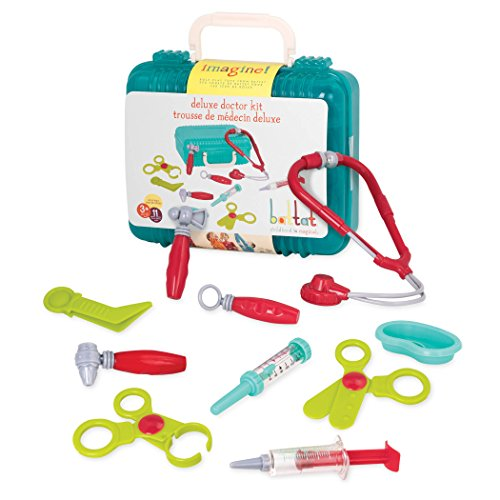 Battat - Deluxe Doctor Kit - Pretend Play Doctor Set for Kids 3 Years + (11-Pcs) ()