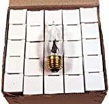 Creative Hobbies Flicker Flame Light Bulb -Flame Shaped, Standard (Medium) Base- Dances with a Flickering Orange Glow -Wholesale Box of 25 Bulbs