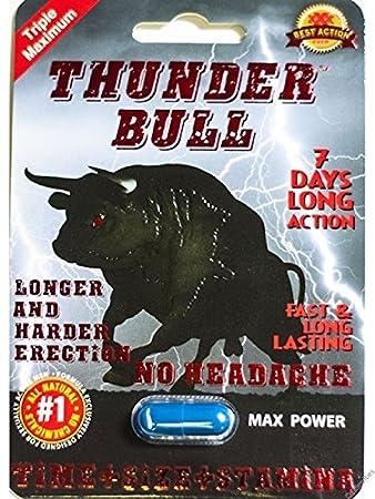 THUNDER BULL Male Sexual Performance Enhancement Pill 6 PK