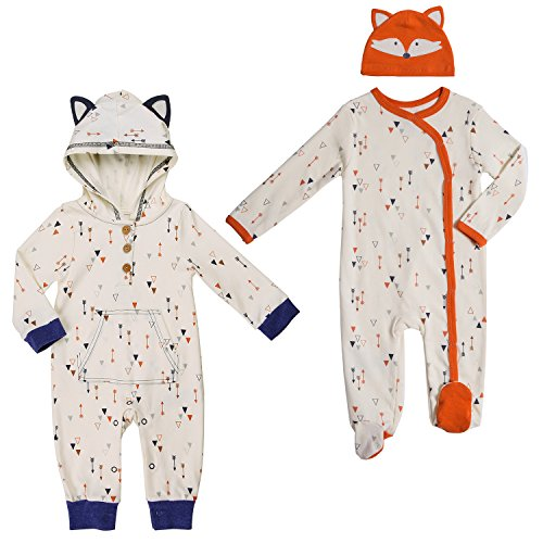 Baby Boy Twin Set 9-12 Month Footed Pajama with Hat and Matching Hooded Jumpsuit -
