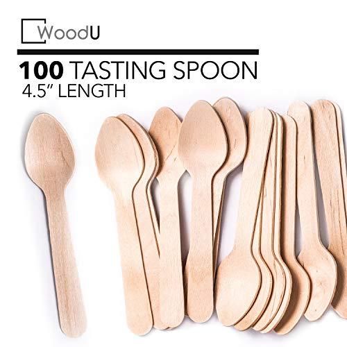 WoodU Mini Wooden Spoons 4.5