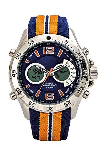 Reloj Aresso Sport Naranja y Azul en Acero