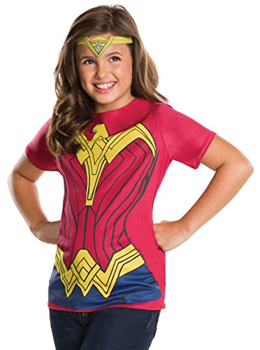 Rubie's Costume Batman v Superman: Dawn of Justice Wonder Woman Child Top and Tiara, Small (Online Costume Rental)