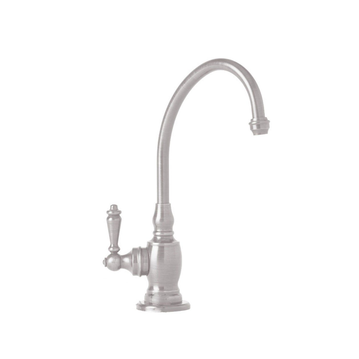 Waterstone 1200C-SN Annapolis Filtration Faucet Cold Only with Single Lever Handle, Satin Nickel
