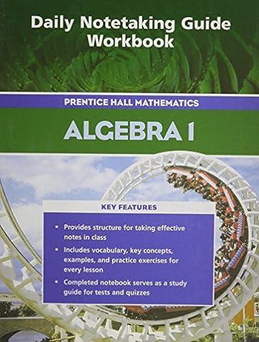 amazon com prentice hall math algebra 1 daily notetaking guide rh amazon com McDougal Littell Geometry Notetaking Guide MyPlate Planner Guide