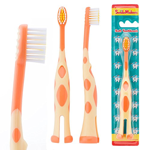 SmileCare Toddler Giraffe Toothbrushes - Dental Hygiene Products - 48 per Pack by SmileMakers (Image #1)