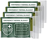 Emergency Mylar Thermal Blankets (4-Pack) + BONUS Signature...