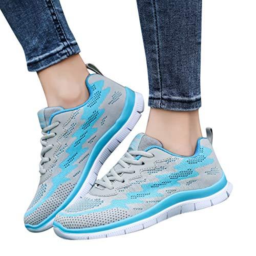 Da Scarpe Sneakers Casual Moda Donne Sportive Zarupeng Passeggio Volano Tessere Blu Scarpa Outdoor Che xqfaPZw