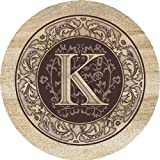 Thirstystone Absorbent Drink Coasters, Monogram K