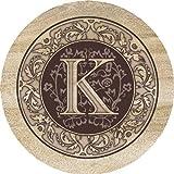 Thirstystone Absorbent Drink Coasters, Monogram K
